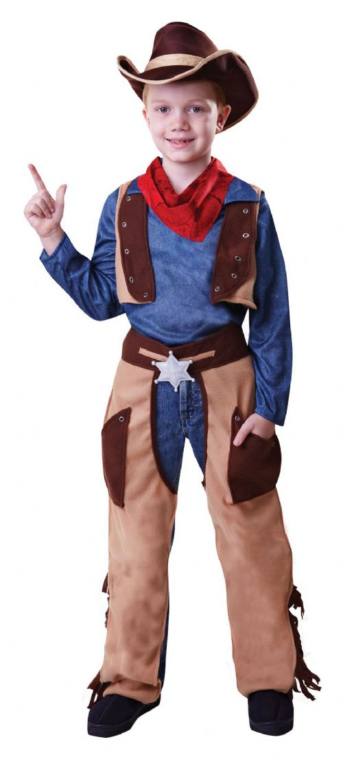 Boys Cowboy Wild West Costume American Wild West & Indians Fancy Dress Outfit